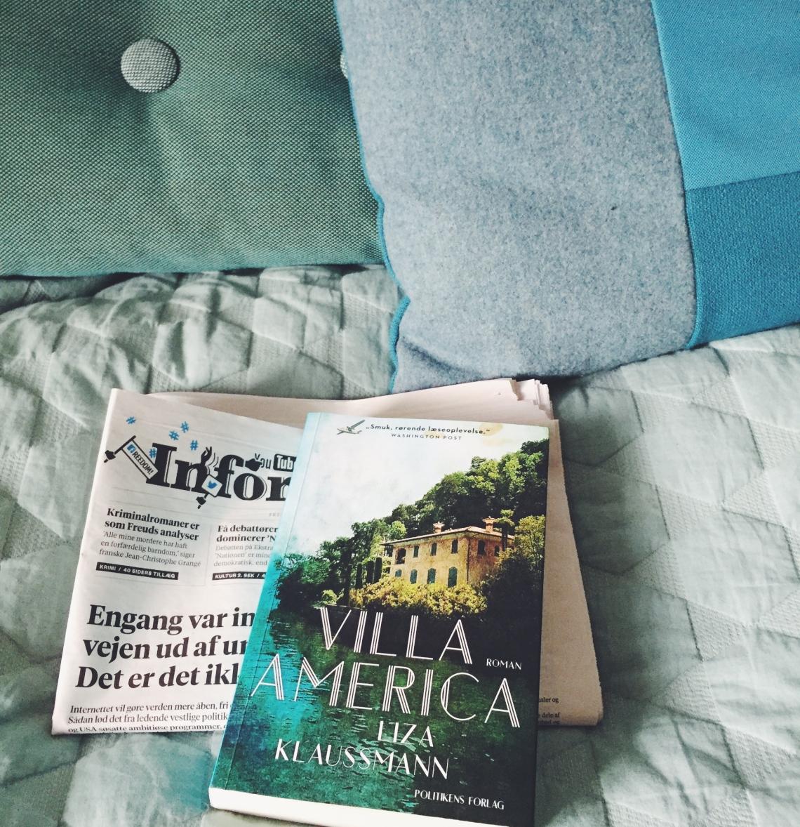 Et billede af bogen Villa America, der er skrevet af Liza Klausmann.