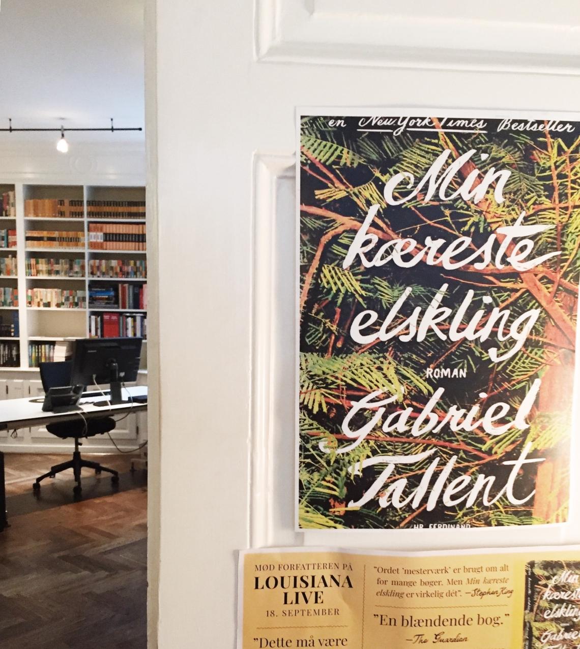 Inde hos Politikens Forlag i København, hvor den amerikanske forfatter Gabriel Tallent var på forfatterbesøg